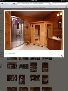 Sauna in the bathroom! And look at that shower!