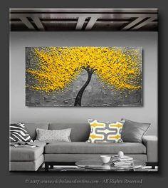 GRAN 60 x 30x1.5Original flor árbol pintura