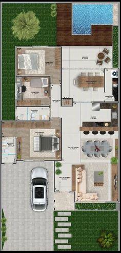ideas garage door trim ideas house plans for 2019 House Layout Plans, Dream House Plans, House Layouts, House Floor Plans, Contemporary Stairs, Contemporary Furniture, Contemporary Style, Contemporary Wallpaper, Contemporary Landscape