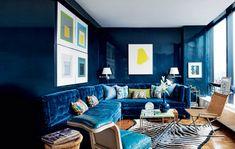 Marine-Blau Inspirationen für den Frühling | Blau samt sessel | wohn-designtrend.de/