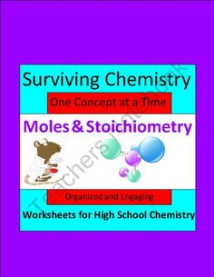 Moles & Stoichiometry: Organized & Engaging Worksheets for High School Chemistry product from E3Chemistry on TeachersNotebook.com