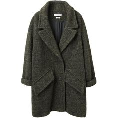 Étoile Isabel Marant Diego Oversized Jacket ($610) ❤ liked on Polyvore featuring outerwear, coats, jackets, coats & jackets, wool coat, oversized wool coat, oversized coat, fuzzy coat and woolen coat