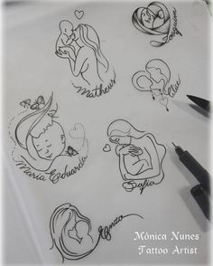 61 ideas tattoo ideas for kids names for moms sons tatoo Mommy Tattoos, Tattoo Mama, Motherhood Tattoos, Tattoo For Son, Baby Tattoos, Tattoos For Kids, Family Tattoos, Tattoos For Daughters, Future Tattoos