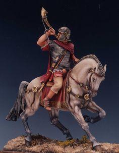 Roman soldier on horseback.