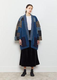 Hand Knit Tsugihagi Kesa Cardigan by Kapital- La Garçonne