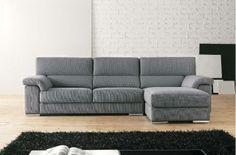 Sofá en tela grsi clara Couch, Furniture, Home Decor, Tela, Homemade Home Decor, Sofa, Couches, Home Furnishings, Sofas