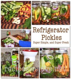 Refrigerator Pickles... . NO CANNING INVOLVED   So simple and so Fresh you just can't beat these