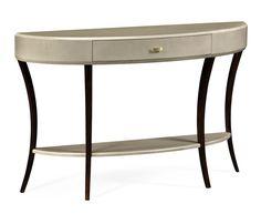 Jonathan Charles Art Deco large demilune console table   Pavilion Broadway