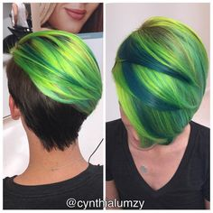 """ Screamin' Green  color design and haute cut by @cynthialumzy @cynthialumzy For maximum inspiration check out Cynthia''s IG page @cynthialumzy"""