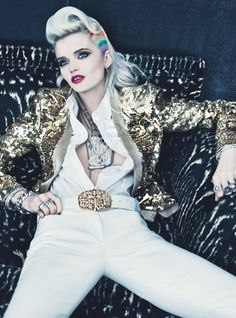 """""""Oh, You Pretty Things"""" photographed by Emma Summerton, styled by Giovanna Battaglia; W magazine March 2012.-Wmag"""