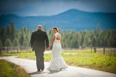 Adi & Spencer - Black Butte Ranch. My favorite place on the Ranch, the meadow path.  There is nothing like it! Photo by Powers Studios.