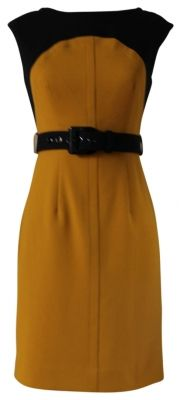 Really like the classic straight lines of this Ella Combo Dress - GAG color (for me anyway)