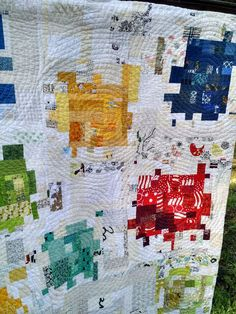 """Kat & Cat Quilts: """"A Lot of Fight Left"""" in These Crumbs Quilting Projects, Quilting Designs, Quilt Design, Longarm Quilting, Quilting Fabric, Crumb Quilt, Contemporary Quilts, Quilt Modern, Modern Quilting"""