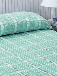 Plaid Seersucker Cotton Bedspread
