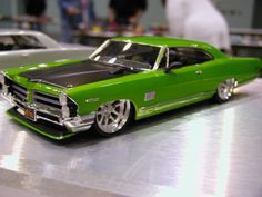 Custom green hot rod