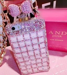 Gorgeous Glitzy Trend Pink Crystal Rhinestone Case For iPhone 5/5s