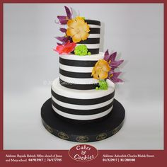 An elegant cake for an elegant lady! #cakesandcookieslb #cake #cakes #birthdaycake #delicious #chocolate #dessert #sweet #birthday #sugarart #Lebanon