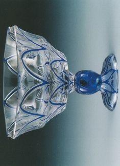 Hans Bolek , 1913 , for Loetz Bohemia Glass, Duck Egg Blue, Cut Glass, Mosaics, Belly Button Rings, Royal Blue, Bohemian, Vase, Ceramics
