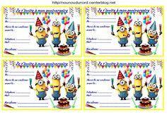 Anniversaire :  Etiquettes cadeaux et invitations MINION pour les anniversaires des enfants http://nounoudunord.centerblog.net/4278-etiquettes-et-invitations-minion-pour-les-anniversaires