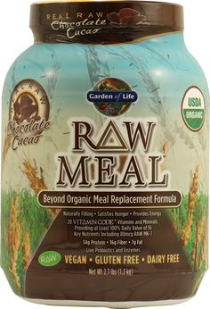 Garden of Life Organic RAW Meal™ Chocolate Cacao -- Great breakfast shake with almond milk or coconut milk.