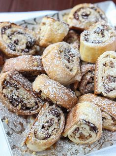 Day 10 of 12 Days of Cookies: flaky pastry dough with healthy greek yogurt, filled with Calimyrna fi Fig Recipes, Italian Recipes, Whole Food Recipes, Dessert Recipes, Cooking Recipes, Italian Foods, Amish Recipes, Dutch Recipes, Italian Desserts