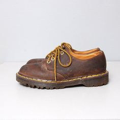 1990's Dr Marten Oxfords  Brown Leather