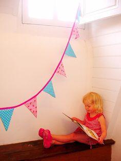 Pink Toadstool Flag Bunting  Made to order by leilalou on Etsy, $29.00