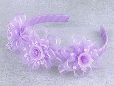 Lilac Headband w/ Rosebuds