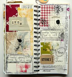 art journal - patchwork of life {and secret messages} Artist Journal, Art Journal Pages, Art Journals, Visual Journals, Travel Journals, Journal Cards, Creative Journal, Creative Art, Altered Books
