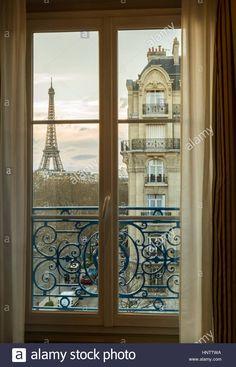 Image result for paris skyline dusk open window