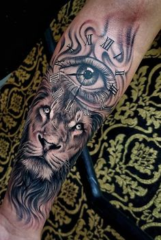 65 Female and Male Lion Tattoos Forearm Cover Up Tattoos, Neck Tattoo For Guys, Forarm Tattoos, Body Art Tattoos, Hand Tattoos, Tattoos For Guys, Quarter Sleeve Tattoos, Best Sleeve Tattoos, Tattoo Sleeve Designs
