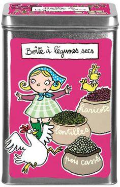 Boîte à légumes secs - DLP - Valérie Nylin