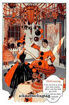 vintage halloween 1925 dennison bogie book