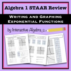 Algebra 1 STAAR Review Warm Ups - INCLUDES ANSWER KEY ...