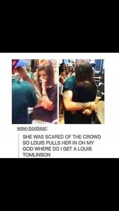 This happened while they where shopping in Montreal! xx that was so sweet of him :')