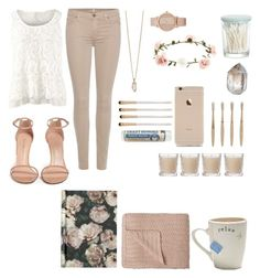 """""""Nude"""" by juliadoug on Polyvore featuring 7 For All Mankind, CAbi, Zoya, Crate and Barrel, ALDO, Accessorize, ferm LIVING, Shabby Chic, Eve Lom and Stuart Weitzman"""