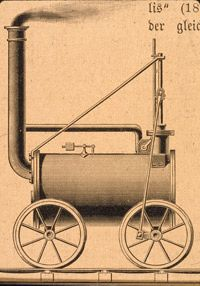 Richard Trevithick invented a steam powered locomotive which successfully hauled cargo and passengers, in 1804, this changed the world because it was the first train that wasn't powered by horse and the train is one of the most popular type of transportation.
