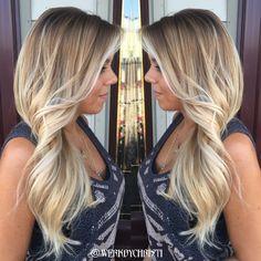 Balayage ombré. Hairstyles. Long hair. Blonde Balayage ombré. Platinum blonde
