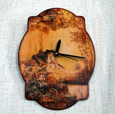 Часы http://dcpg.ru/blogs/6978/ Click on photo to see more! Нажмите на фото чтобы увидеть больше! decoupage art craft handmade home decor DIY do it yourself clock