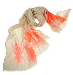 India Hicks Siren Scarf in Flamingo Orange.