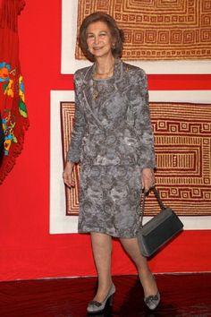 Queen Sofia of Spain Visits the 'Grandes Maestros del Arte Popular de Iberoamerica' exhibition on 2 April 2013