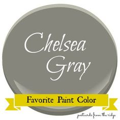 Benjamin Moore Chelsea Gray finally after much thought and fact finding and photo searching i have chosen Benjamin Moore Chelsea Grey HC-168 for the body of the cottage  accented by  Chantilly Lace OC-65 with pops of Tropicana Cabana 2048 -50  there its in writing ! now  no turning back sticking with these choices ! picking up paint tomorrow!