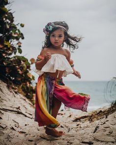 Rainbow Skirt Set by luna bear doll face