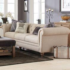 MINE!!  Large Sofa with Vintage Tack Nailheads