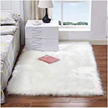 Luxury Plush Faux Fur Rugs For Bedroom Artificial Wool Soft Fluffy White Fur Rug For Living Room Bedroom Couch Area Floor Rugs Fur Carpet, Plush Carpet, White Carpet, Patterned Carpet, Rugs On Carpet, Stair Carpet, Bedroom Carpet, Living Room Carpet, Rugs In Living Room