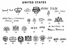 Pottery & Porcelain Marks - United States - Pg. 28 of 41