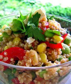 Cook Quinoa With Recipes Healthy Snacks, Healthy Eating, Healthy Recipes, Diet Recipes, Salad Dressing Recipes, Salad Recipes, Quinoa Salat, Easy Smoothie Recipes, How To Cook Quinoa