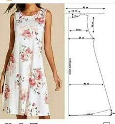 Dress Sewing Patterns, Sewing Patterns Free, Clothing Patterns, Fashion Sewing, Diy Fashion, Fashion Dresses, Diy Clothing, Sewing Clothes, Diy Dress