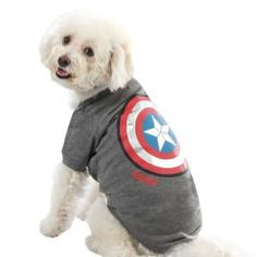 Happy Birthday, USA! Your pet can join the festivities in this red, white & blue Captain America tee! #superpet