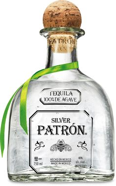 Patron Silver is an ultra premium tequila with a crystal clear appearance. This refreshingly light tequila is a favorite among connoisseurs worldwide due to its delicate smoothness, which imparts a wonderful softness on your palate. Patron is delicious ne Patron Tequila, Tequila Liquor, Tequila Bottles, Patron Liquor, Patron Drinks, Tequila Drinks, Patron Alcohol, Tequila Bebidas, Tequila 1800